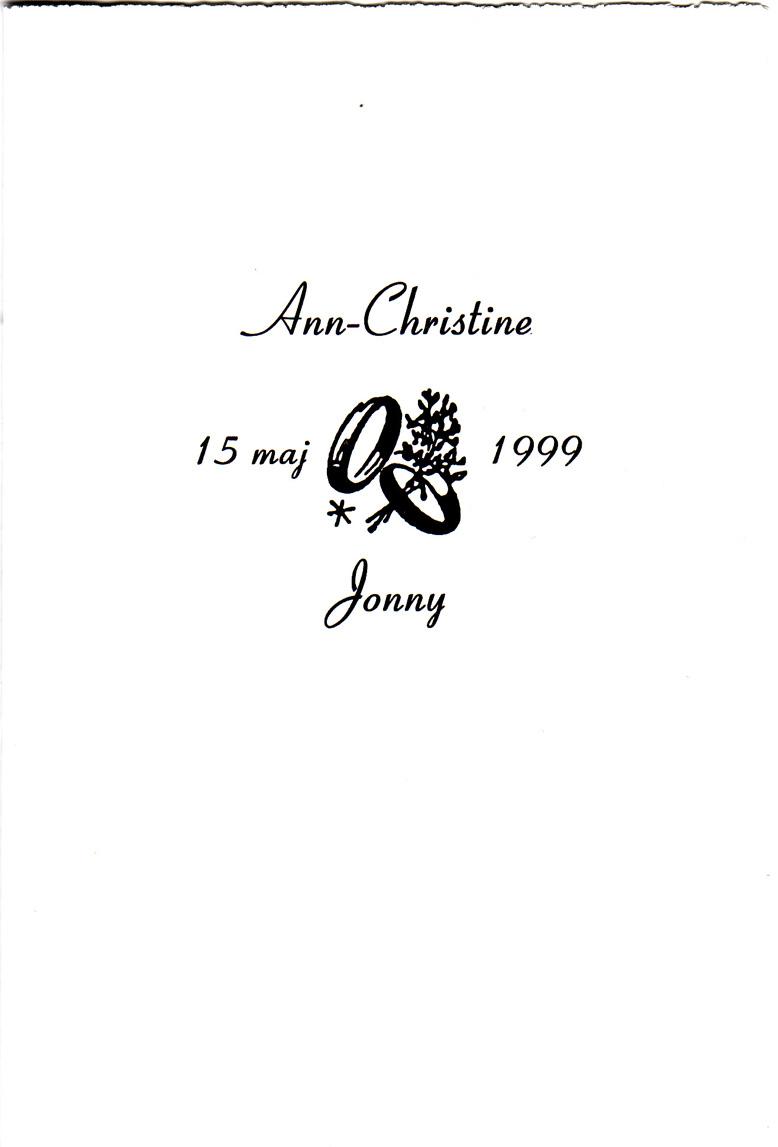 d21c35ad8508 Vårt bröllop den 15 maj 1999